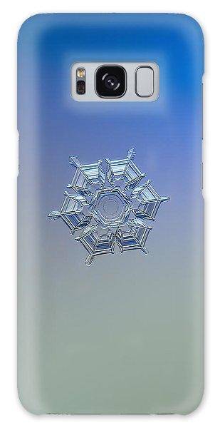 Galaxy Case featuring the photograph Snowflake Photo - Ice Relief by Alexey Kljatov