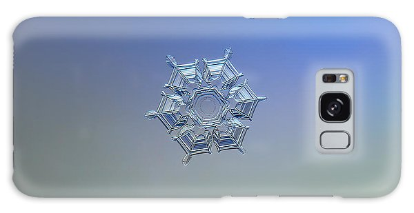 Snowflake Photo - Ice Relief Galaxy Case
