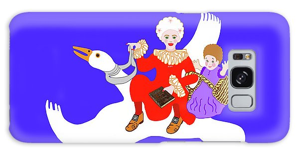 Mother Goose On Her Flying Goose Galaxy Case