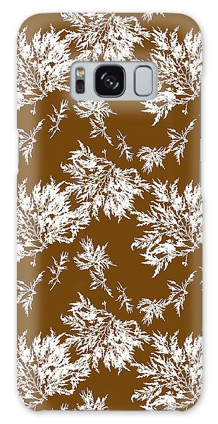 Cottage Galaxy Case - Brown Seaweed Marine Art Chylocladia Clavellosa by Christina Rollo