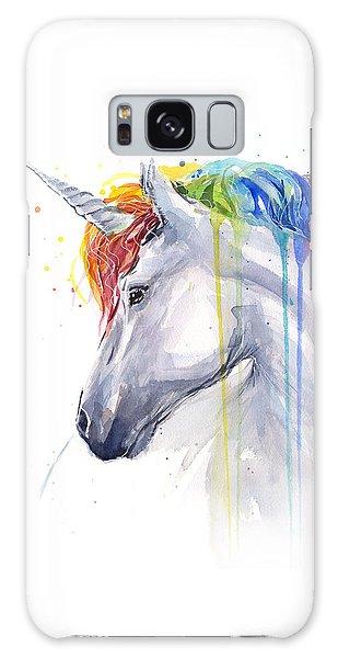 Horse Galaxy Case - Unicorn Rainbow Watercolor by Olga Shvartsur
