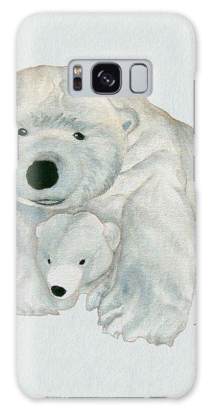 Cuddly Polar Bear Watercolor Galaxy Case