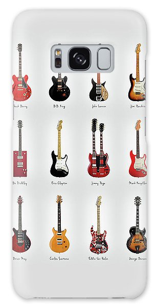 Rock Music Galaxy Case - Guitar Icons No1 by Mark Rogan