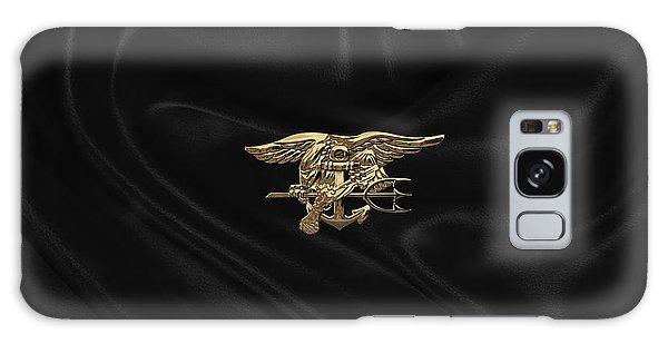 U.s. Navy Seals Trident Over Black Flag Galaxy Case