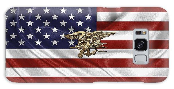 U.s. Navy Seals Trident Over U.s. Flag Galaxy Case