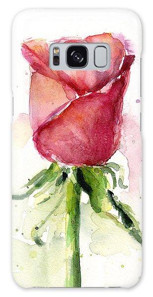 Rose Galaxy S8 Case - Rose Watercolor by Olga Shvartsur