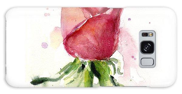 Plant Galaxy Case - Rose Watercolor by Olga Shvartsur