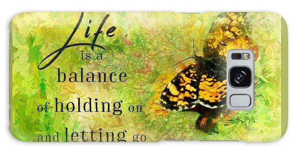 Life Is A Balance Galaxy Case