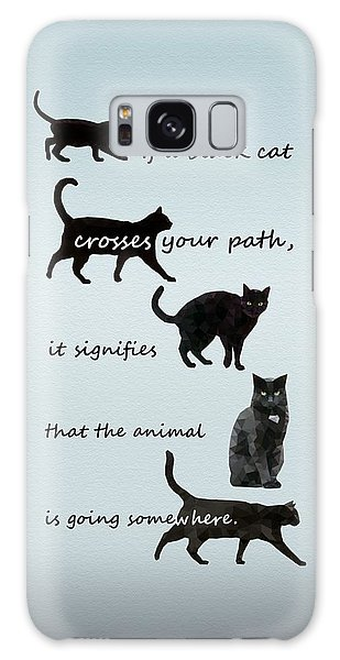 Black Cat Crossing Galaxy Case
