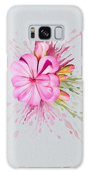 Galaxy Case featuring the painting Pink Eruption by Ivana Westin