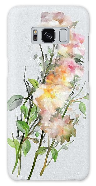 Galaxy Case featuring the painting Wild Roses by Ivana Westin
