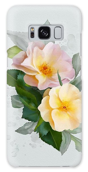 Two Wild Roses Galaxy Case by Ivana Westin