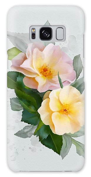 Galaxy Case featuring the painting Two Wild Roses by Ivana Westin