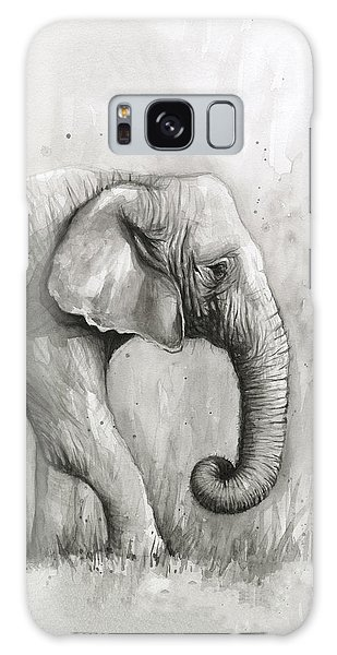Elephant Watercolor Galaxy Case by Olga Shvartsur