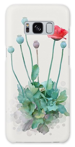 Galaxy Case featuring the painting Poppy by Ivana Westin