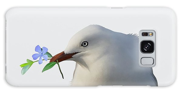Galaxy Case featuring the painting Seagull by Ivana Westin