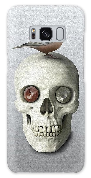 Skull And Bird Galaxy Case