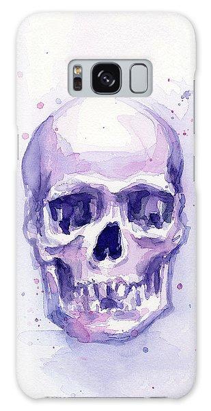 Skull Galaxy Case - Purple Skull by Olga Shvartsur