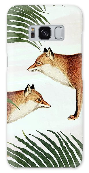 Red Fox Pair Galaxy Case