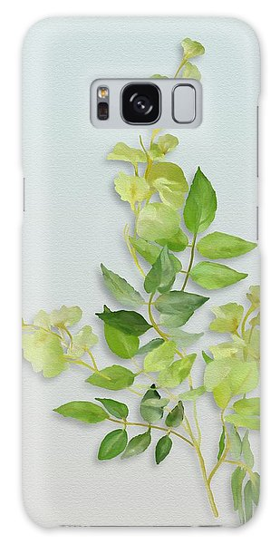 Galaxy Case featuring the painting Yellow Tiny Flowers by Ivana Westin
