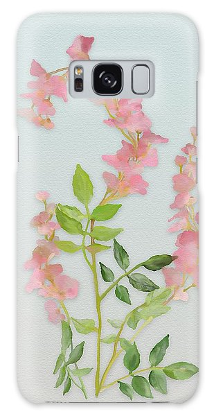 Galaxy Case featuring the painting Pink Tiny Flowers by Ivana Westin