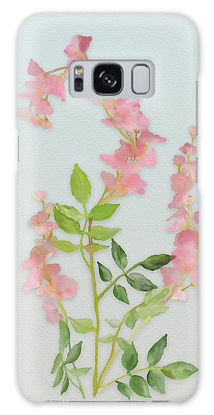 Pink Tiny Flowers Galaxy Case by Ivana Westin