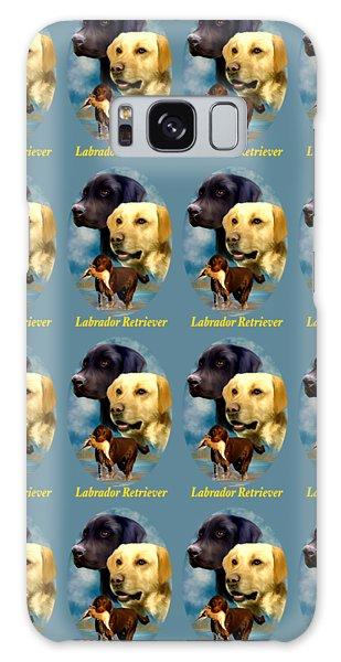 Labrador Retriever With Name Logo Galaxy Case