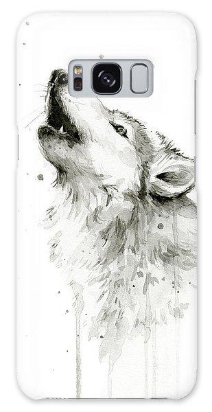 Howling Wolf Watercolor Galaxy S8 Case