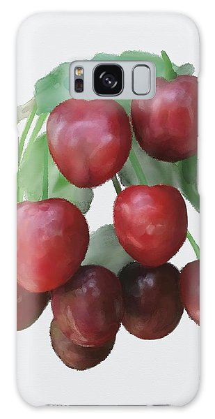 Galaxy Case featuring the painting Sour Cherry by Ivana Westin