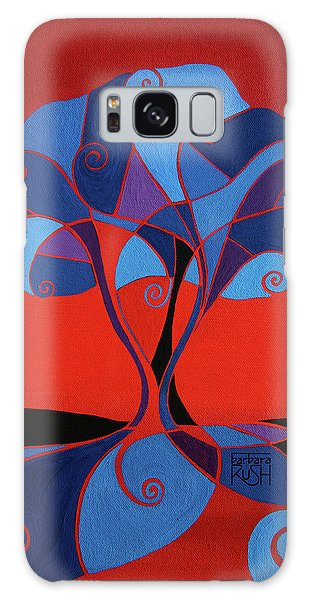 Enveloped In Red Galaxy Case