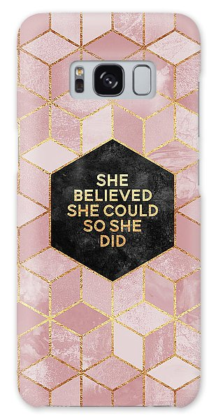Professional Galaxy Case - She Believed She Could by Elisabeth Fredriksson