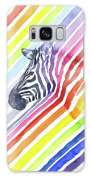 Zebra Galaxy S8 Case - Rainbow Zebra Pattern by Olga Shvartsur