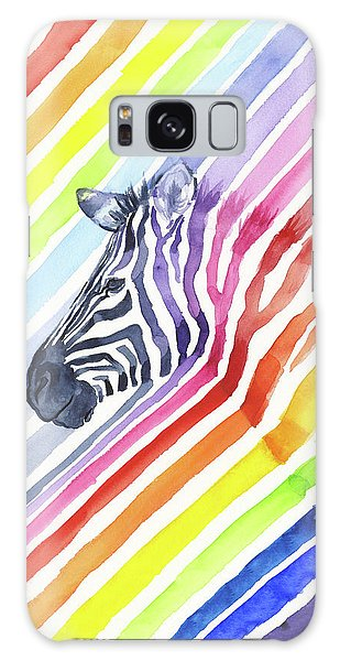 Rainbow Galaxy Case - Rainbow Zebra Pattern by Olga Shvartsur