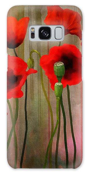 Poppies  Galaxy Case by Ivana Westin