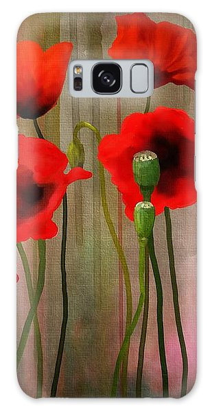 Galaxy Case featuring the painting Poppies  by Ivana Westin