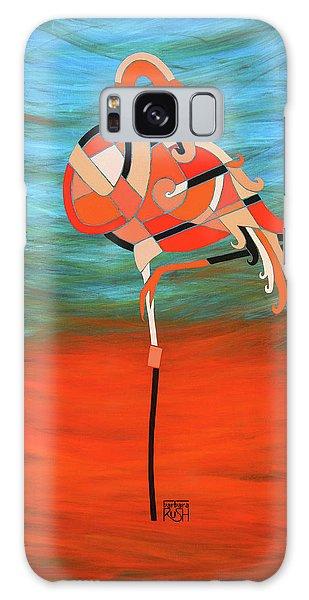An Elegant Flamingo Galaxy Case