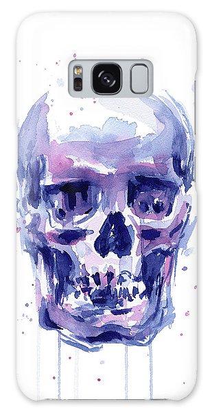 Skull Galaxy Case - Skull Watercolor by Olga Shvartsur