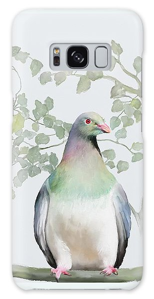 Galaxy Case featuring the painting Wood Pigeon by Ivana Westin