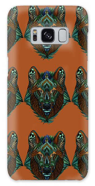 Zentangle Inspired Art- Wolf Colored Galaxy Case