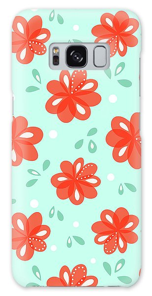 Cheerful Red Flowers Galaxy Case