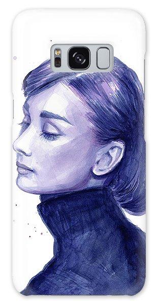 Actor Galaxy Case - Audrey Hepburn Portrait by Olga Shvartsur
