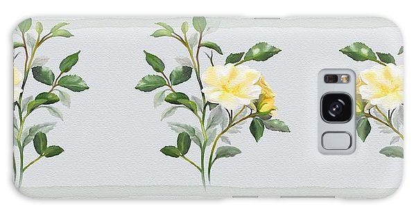 Yellow Watercolor Rose Galaxy Case