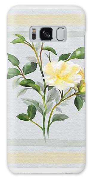 Galaxy Case featuring the painting Yellow Watercolor Rose by Ivana Westin