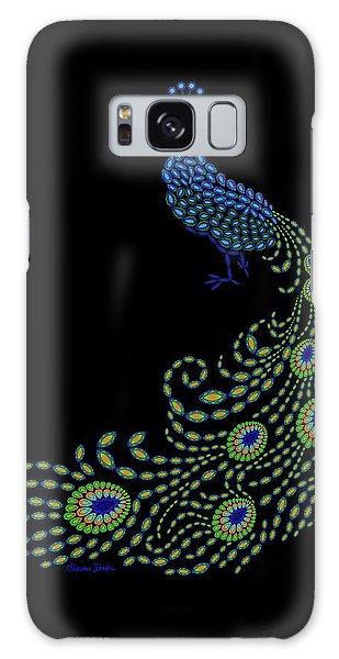 Jeweled Peacock Galaxy Case