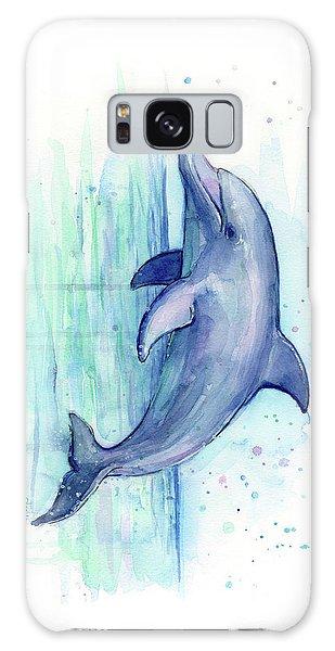 Dolphin Watercolor Galaxy Case by Olga Shvartsur