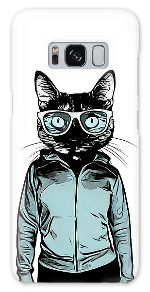 Glass Galaxy Case - Cool Cat by Nicklas Gustafsson