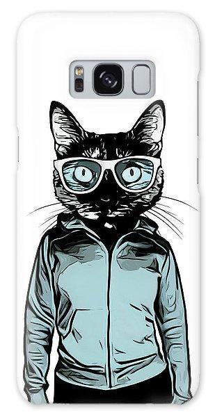 Female Galaxy Case - Cool Cat by Nicklas Gustafsson