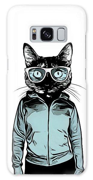 Galaxy Case - Cool Cat by Nicklas Gustafsson
