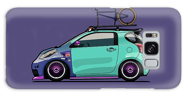 Front Galaxy Case - Toyota Scion Iq Slammed With Bmx Bike by Monkey Crisis On Mars