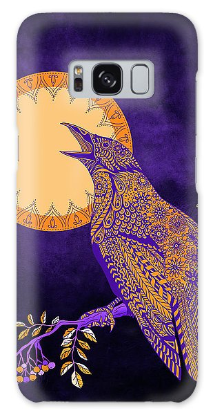 Halloween Crow And Moon Galaxy Case by Tammy Wetzel